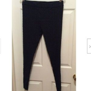 Torrid Leggings 1X Charcoal Gray Cable Knit Style